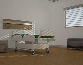 Hospital Room 3D model bed