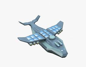 3D asset animated Cargo Spaceship
