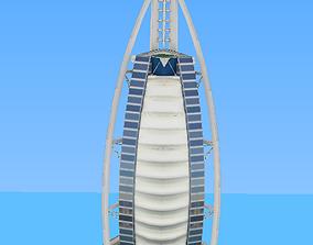 Buji Al Arab hotel low poly model realtime