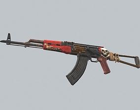 Custom AKM Automatic Assault Rifle 3D asset