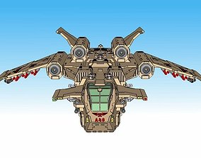 6mm and 8mm Birdstorm Superheavy Dropship 3D print model