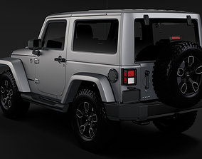Jeep Wrangler Smoky Mountain JK 2017 3D model