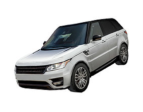 3D asset Luxury SUV Low poly