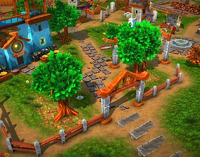 Fantasy Village and Tower Defense 3D model