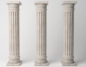 3D model low-poly Antique column