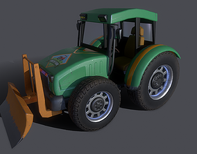Asset - Cartoons - Car - Bulldozer - 3D Model