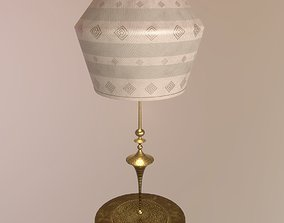 3D asset Brass and Linen Lamp