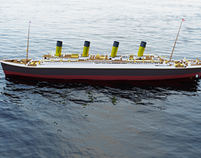 Titanic in Blender 2 80 with ocean and Blender 2 79 and 2