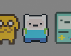 3D asset adventure time characters