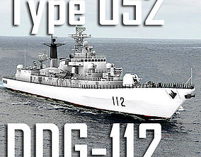 Chinese Navy Type 052 Luhu Class DDG-112 Harbin 3D asset 1