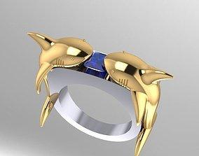 3D print model shark megalodon ring free