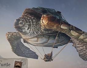 Flying Turtle 3D asset