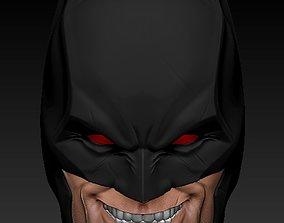 3D print model Flashpoint Batman Head Sculpt - Crazy Head