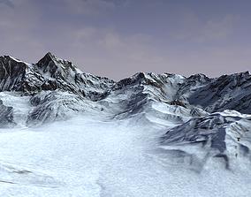 3D asset Snow Mountain Terrain