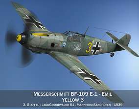 Messerschmitt - BF-109 E - Yellow 3 3D model
