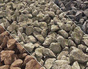 Gravel stone road 3D