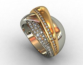 Diamond Ring 3D print model carat