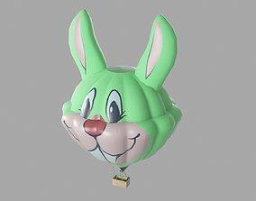 Rabbit Hot Air Balloon 3D asset