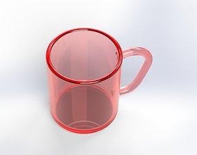 Red glasse mug 3D model