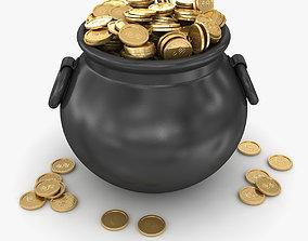 Pot of Gold 3D asset VR / AR ready