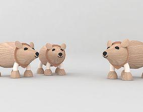 my son toy wooden bear 3D printable model