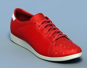 3D model Sports shoes 05 red white