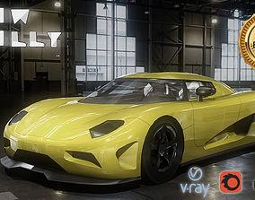Koenigsegg car Low Poly 3D model low-poly