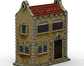 3D model Colonial Townhouse