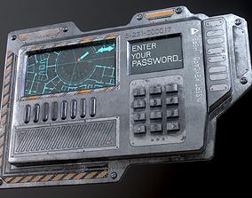 3D model Sci-Fi Door electric lock keypad or Card