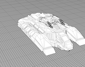 3D printable model White-Rider Conquest Tank