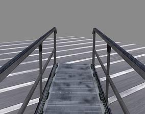 3D model low-poly Bridge walkway