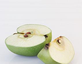 Apple Sliced 3D apples