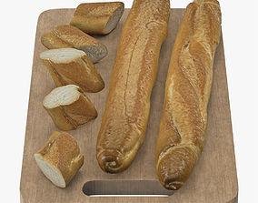 Bread 3D asset