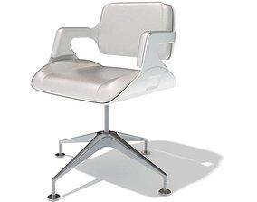 Modern White Office Chair 3D