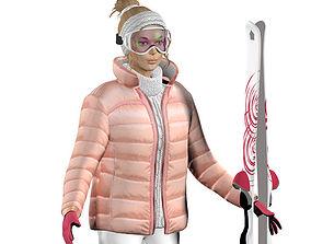 Liza ski 3D asset