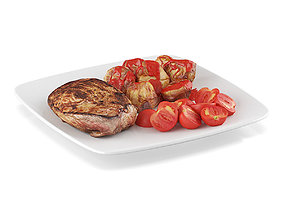3D Meat with vegetables