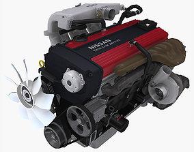 3D model Nissan RB20DETR engine