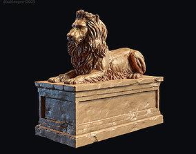 Lion Tomb 3d print model PBR