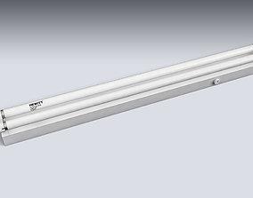 3D asset Double Fluorescent Tube Fixture