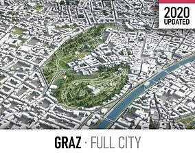 3D model Graz - city and surroundings