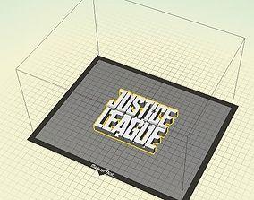 Justice League Sign 3D printable model