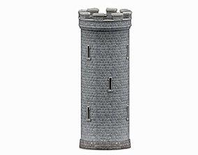 Stone tower 3D asset