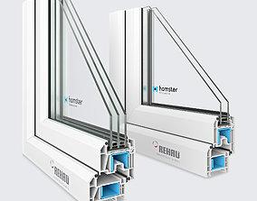 3D Window profile - Rehau Blitz New - Rehau Grazio