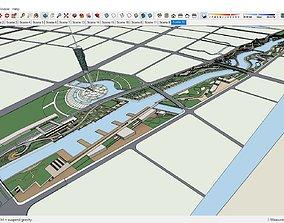 3D Sketchup 206 - Landscape river
