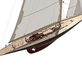 3D J-Class Yacht ENDEAVOUR JK4 yacht-design