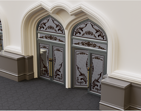 3D model Continuous building Gates Walls and Windows pack