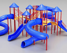 Giant childrens slides 3D model