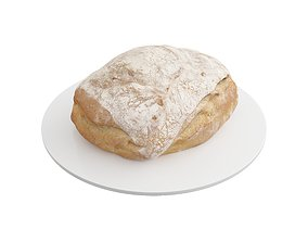 VR / AR ready Photorealistic 3D Scanned Bread 01