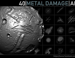 3D Metal Damage Alphas cuts