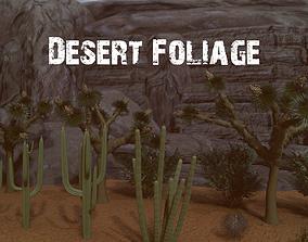 3D asset Desert Foliage